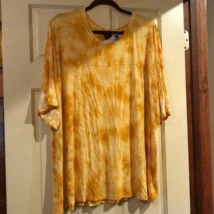 💛 Crinkle Yellow tie-dye shirt